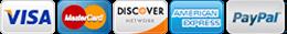 We accept all major credit cards | Blueline Pressure Washing